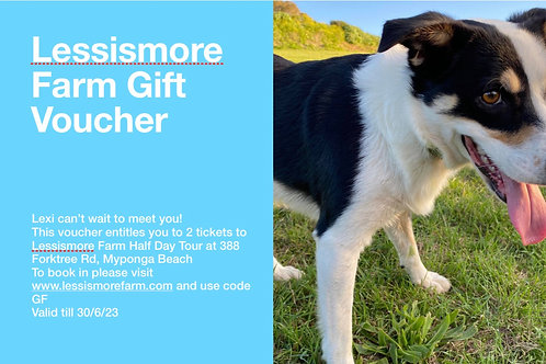 Lessismore Farm Half Day Tour Gift Voucher-2 people