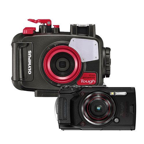 กล้องถ่ายรูปใต้น้ำและเคส Olympus TG-6 Set