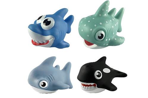 Set ตุ๊กตาฉลาม 4 ตัว