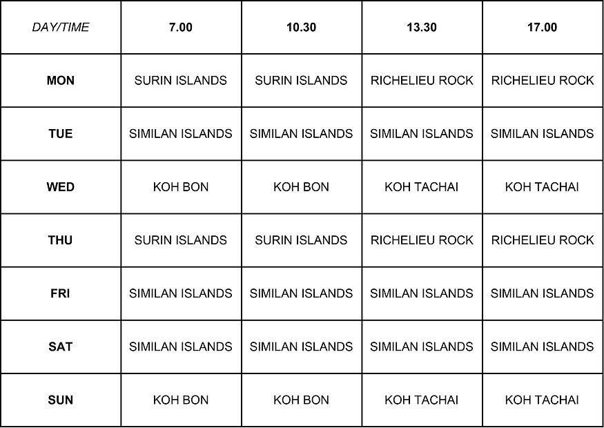 MV South Siam 3 Schedule 2018-2019 - She