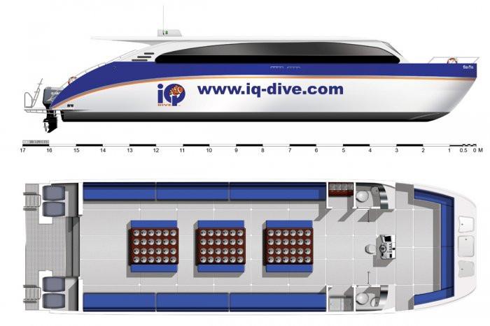 Charonia - Catamaran Deck Plan