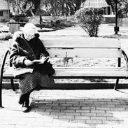park bench, tbilisi, 2020