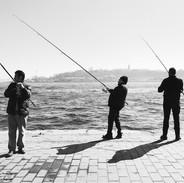 bosphorus fishermen, istanbul 2020