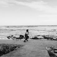 throwing rocks into the sea, kalk bay, 2020