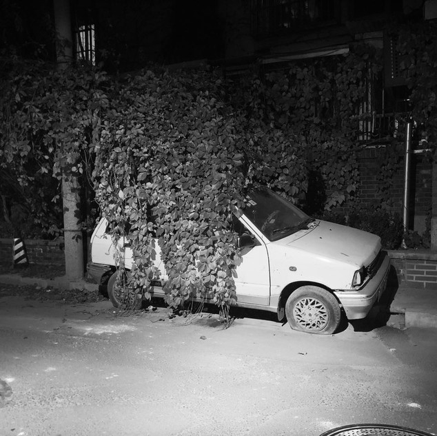 the old hutong car, beijing 2018