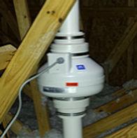 RP265 model fan, mounted in an attic