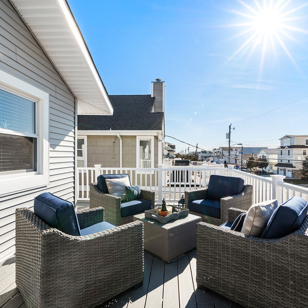 Deck with bay views.