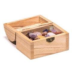 boite à bijoux avec 200 gr de pierres