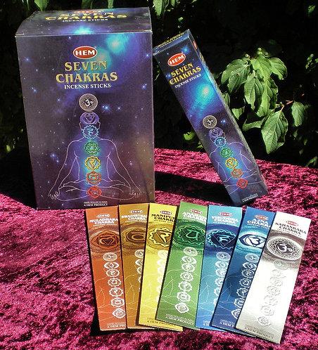 Encens HEM Sept Chakras