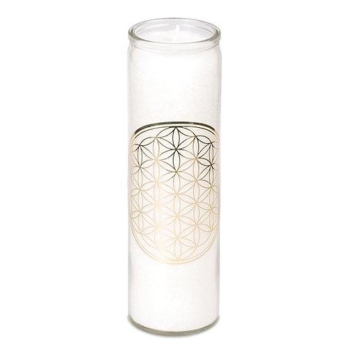 bougie parfumée FLEUR DE VIE blanche