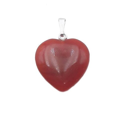 Pendentif coeur CORNALINE