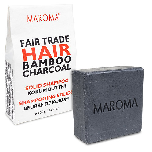 Maroma Barre de shampoing solide Bambou Charbon