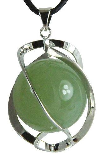 Pendentif DNA-Spirale jade de chine boule 20mm