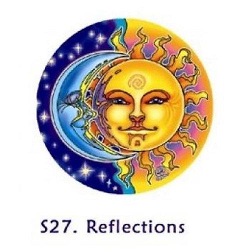 Adhésif verre/fenêtre Soleil et Lune