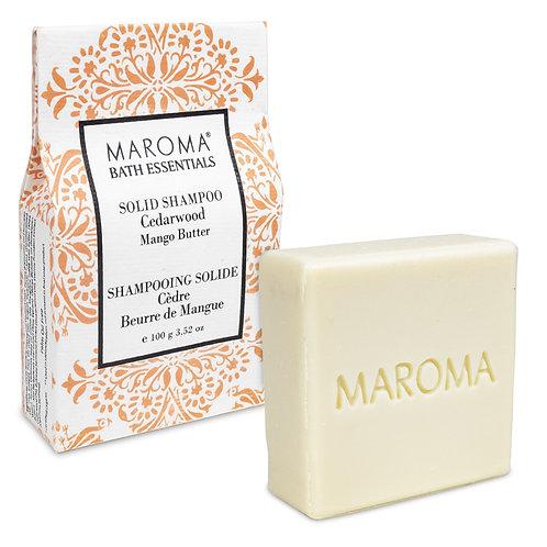 Maroma Barre de shampoing solide Bois de Cèdre