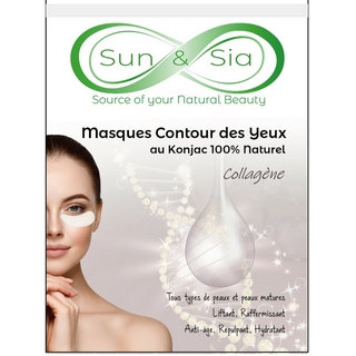 Masque Konjac Contour des Yeux au Collagène