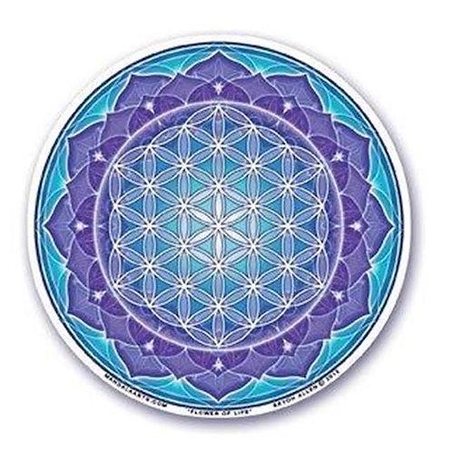 Adhésif verre / fenêtre Fleur de vie 10,5 cm