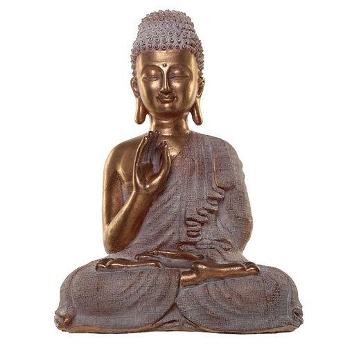Figurine de Décoration Bouddha Thailandais Blanche & Dorée - Spiritualité