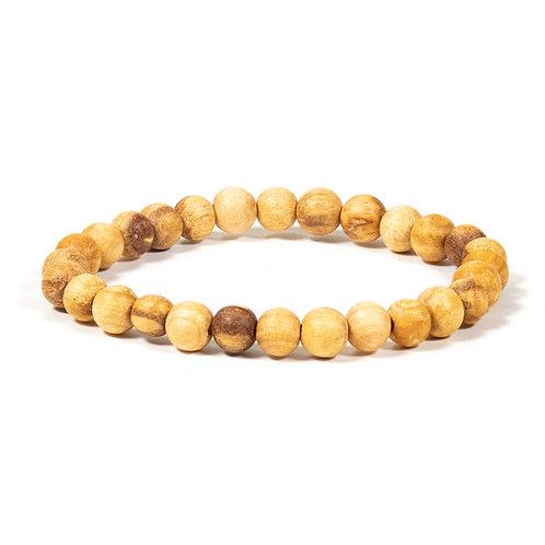 Bracelet Palo Santo perles rondes S élastique