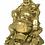 Thumbnail: Happy Buddha en laiton avec pièces 23cm