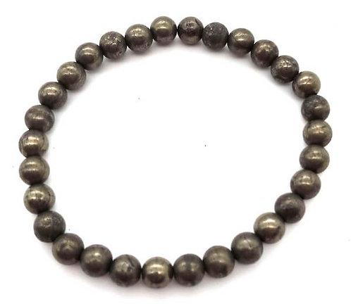 Bracelet Pyrite perles 6mm