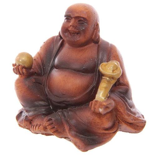 Mini Bouddha porte bonheur effet Boisé