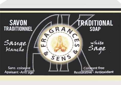 Savon fragrances & sens sauge blanche 100g