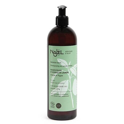 Shampooing Alep 2 en 1 pour cheveux secs bio