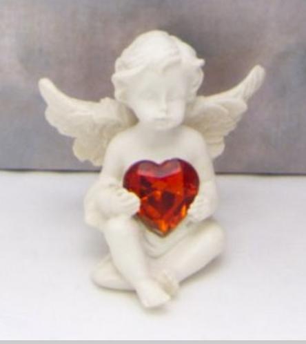 Anges gardien + coeur strass