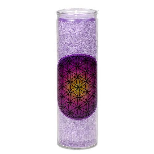Bougie parfumée FLEUR DE VIE violette