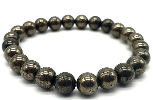 Bracelet Pyrite perles 8mm