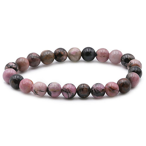 Bracelet boule 08mm RHODONITE
