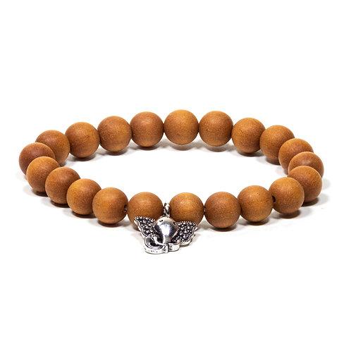Mala / bracelet  bois de santal et  Ganesh.
