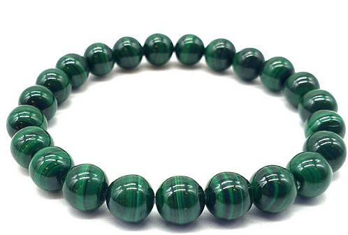 Bracelet boule 08mm Malachite