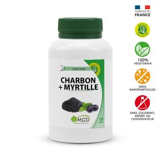 Charbon végétal, myrtille