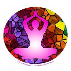 adhésif verre fenêtre Yoga Autoguérison