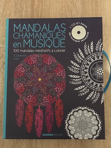 mandalas chamaniques en musique  (1cd) + 100 mandalas à colorier