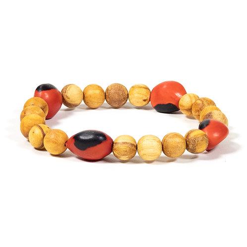 Bracelet Palo Santo avec 4 perles Huayruro