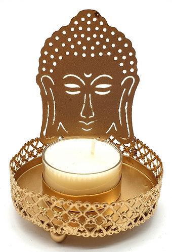 Bougeoir à Réflexion Métal Bouddha 11cm