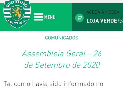 Afonso Pinto Coelho 23/09/2020 - A Assembleia-Geral (SCP-clube) do Orçamento e do Relatório & Contas