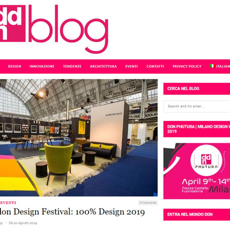 DDN Blog London Design Festival 2019