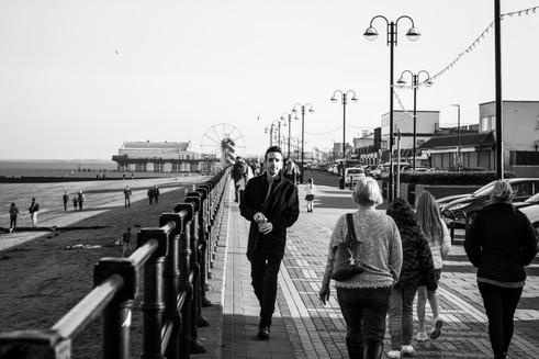 Joel Hughes on the Cleethorpes Promenade