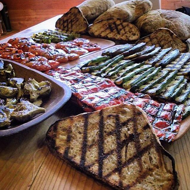 grilled veg platter patagonia pic
