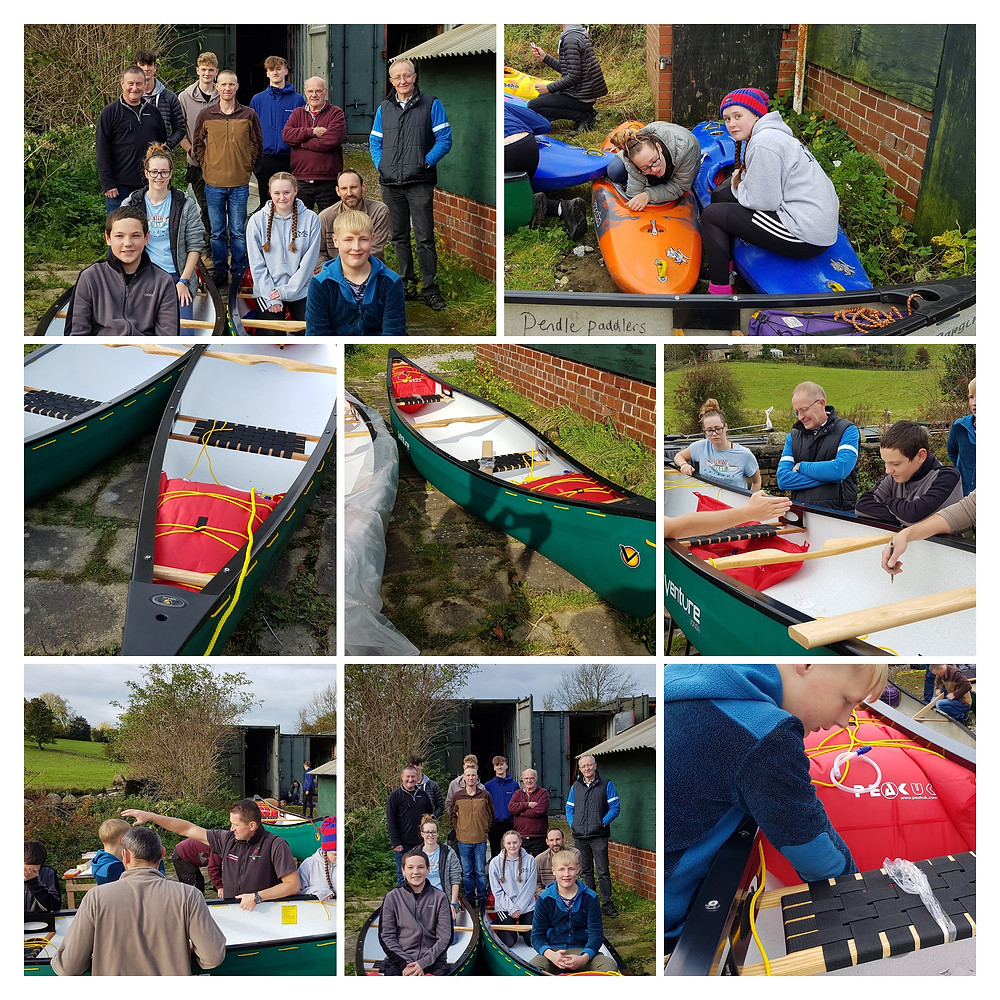 Learning how to fit out canoes