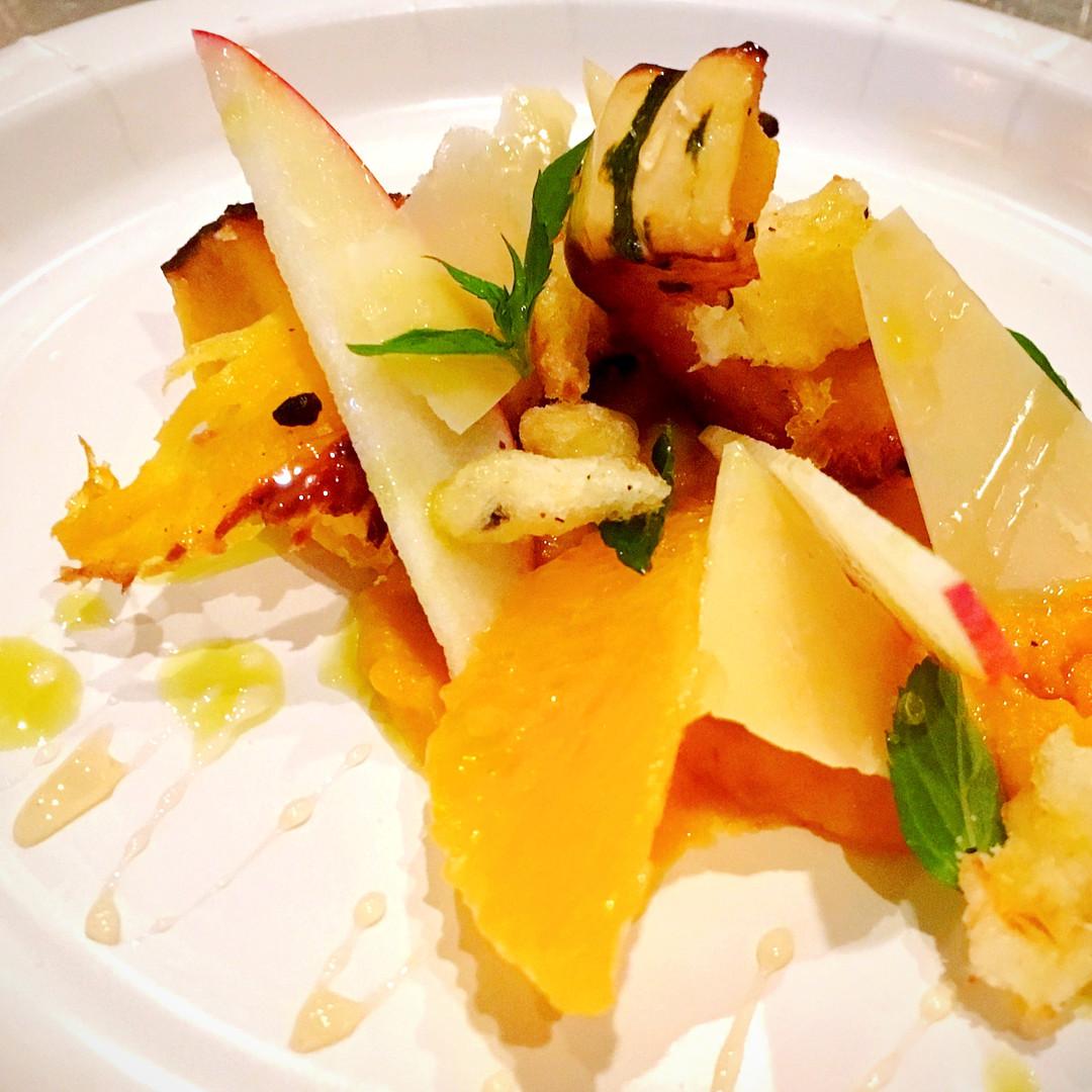 Roasted Organic Squashes with Mint, Honey, Pecorino, and Orange