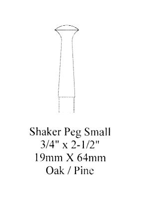 Shaker Peg Small