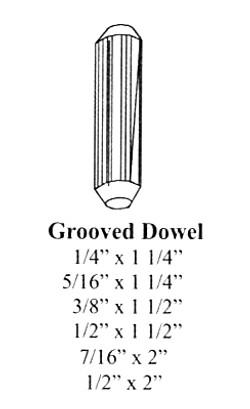 Grooved Dowel