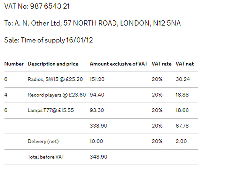 VAT Invoices - What is Needed