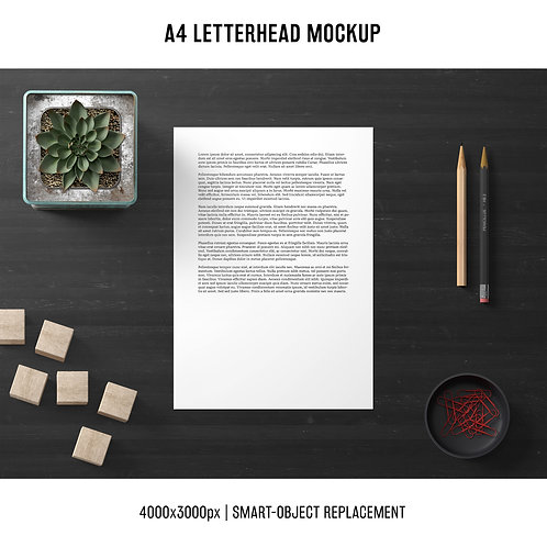 Mockup A4 Paper Luxury