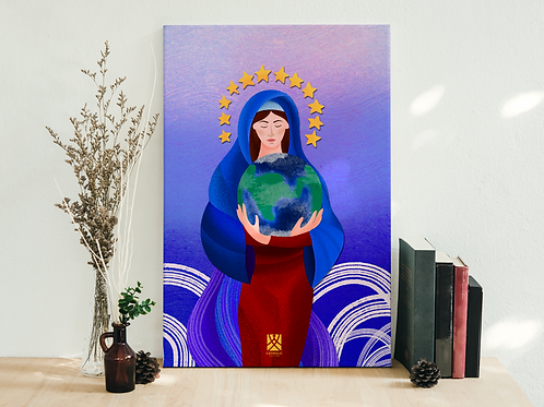 Mary protects the earth - Đức Mẹ bảo vệ thế giới